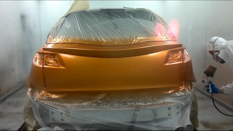 Покраска акрилом авто своими руками видео